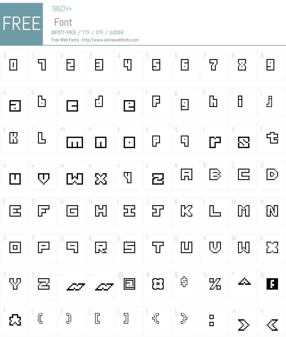 Thirteen Pixel Fonts Font Screenshots