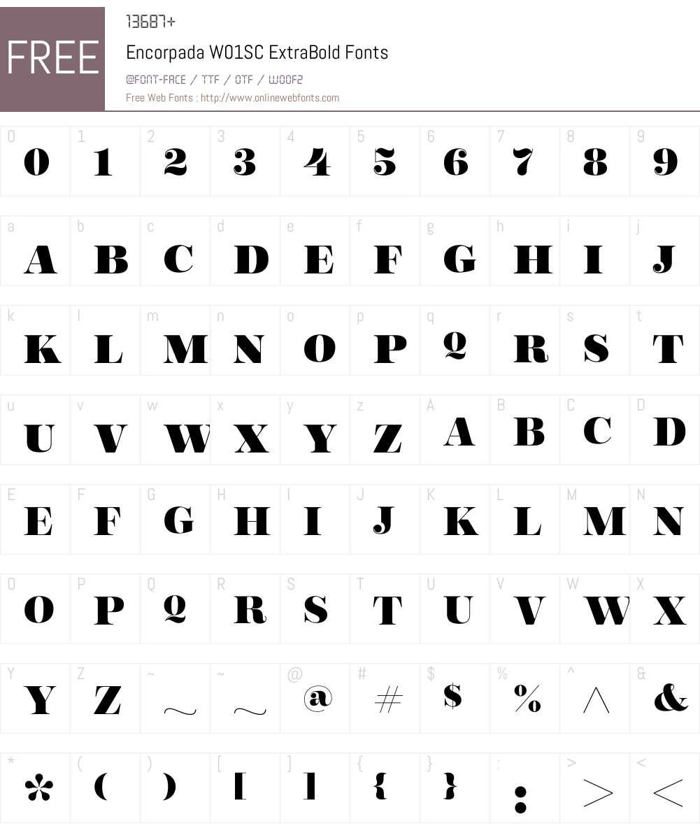 EncorpadaW01SC-ExtraBold Font Screenshots
