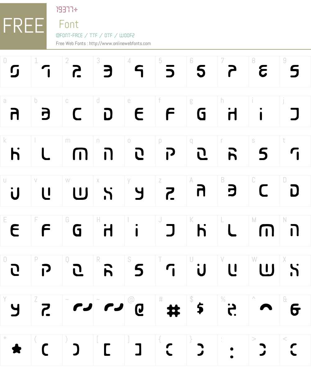Eroded 2020 Font Screenshots