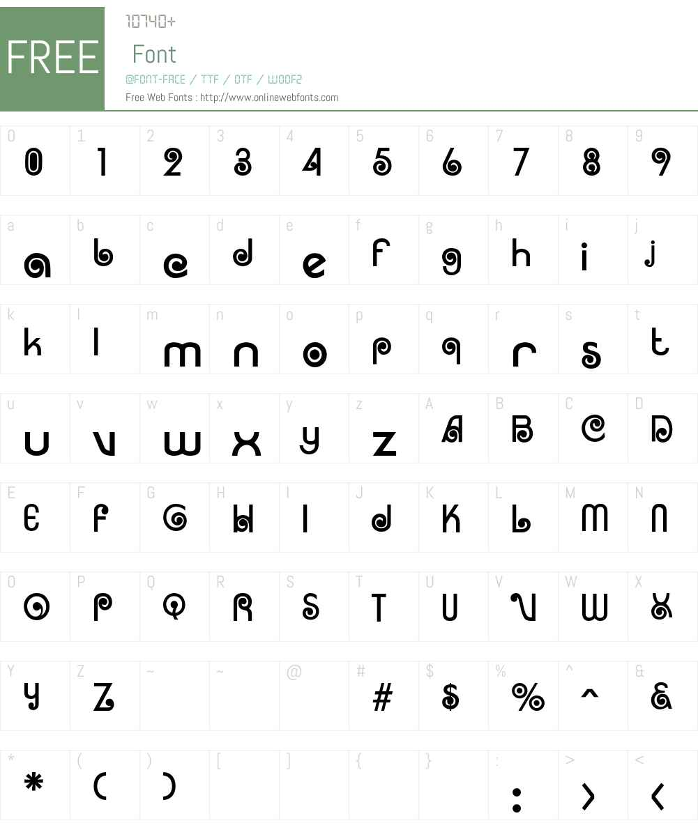 Rosita Font Screenshots