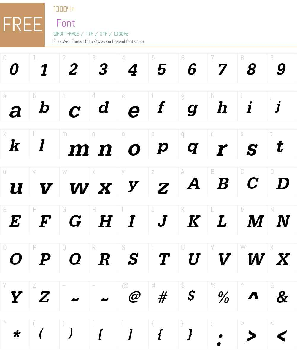 URWTypewriterTMedNar Font Screenshots