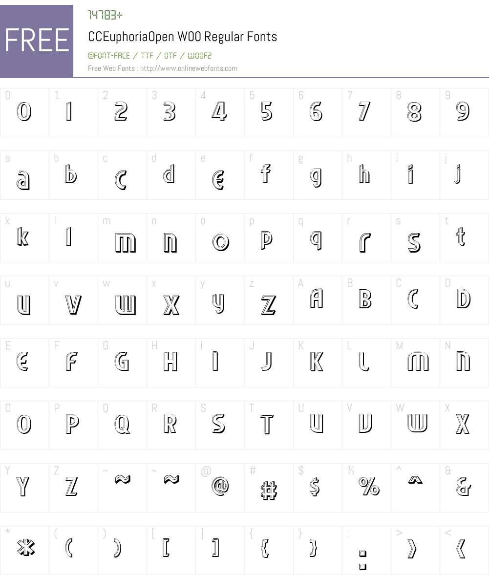 CCEuphoriaOpenW00-Regular Font Screenshots