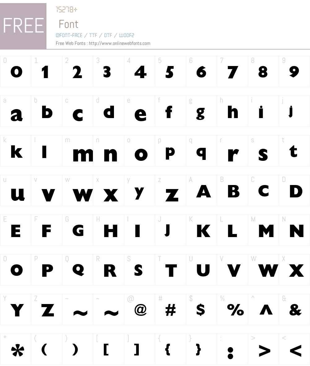 Gill Sans Font Screenshots