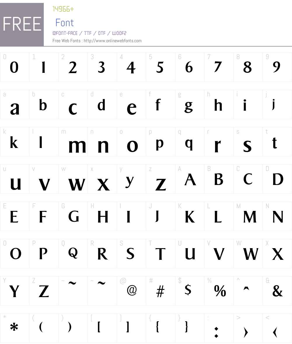 Sigvar-Medium Font Screenshots