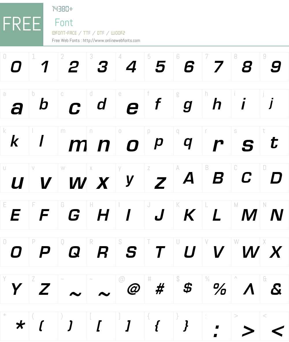 Eurostile LT Font Screenshots