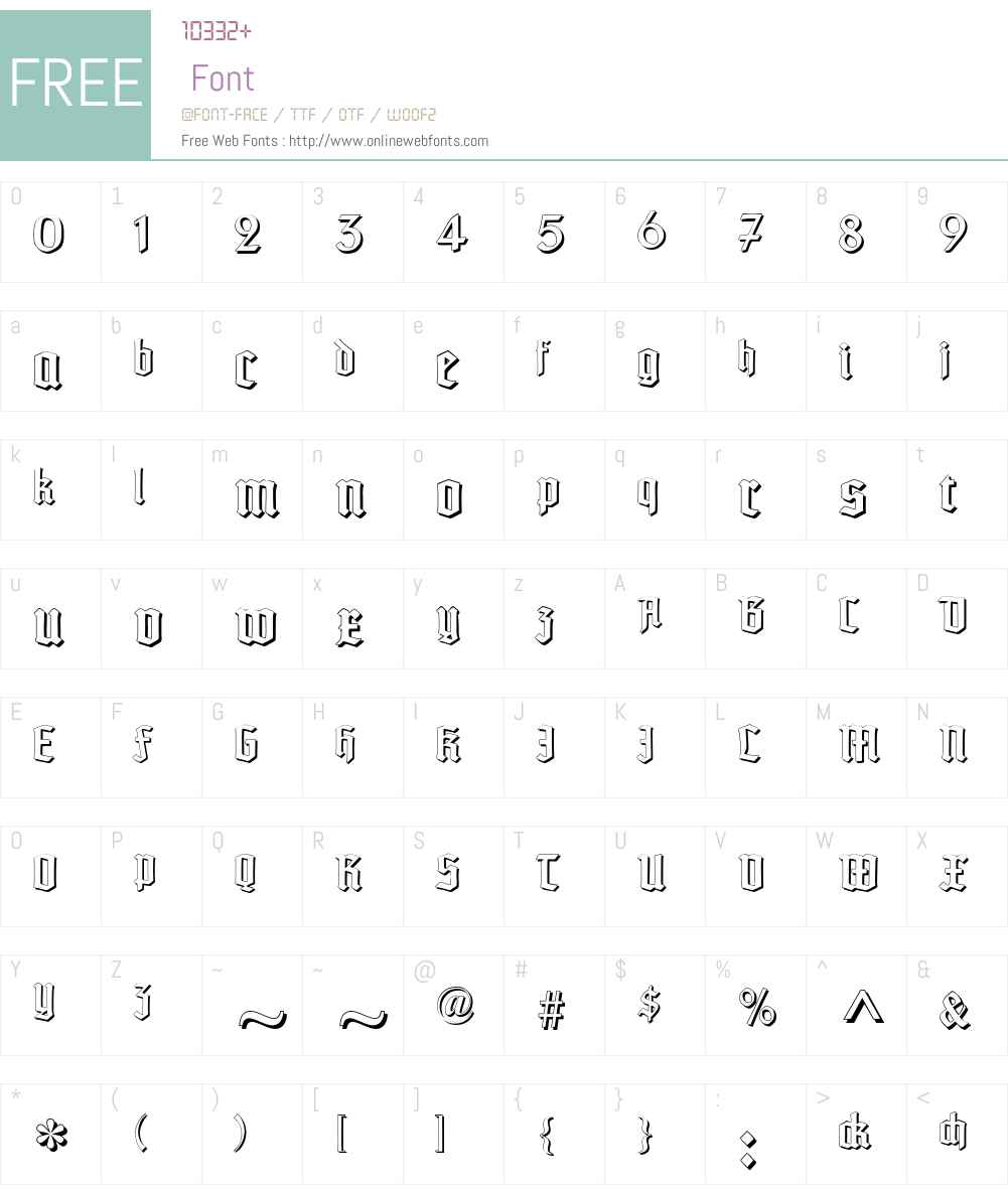 TypographerTextur Schatten Font Screenshots