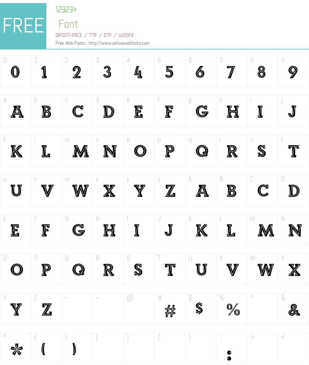 Landi_Echo Font Screenshots