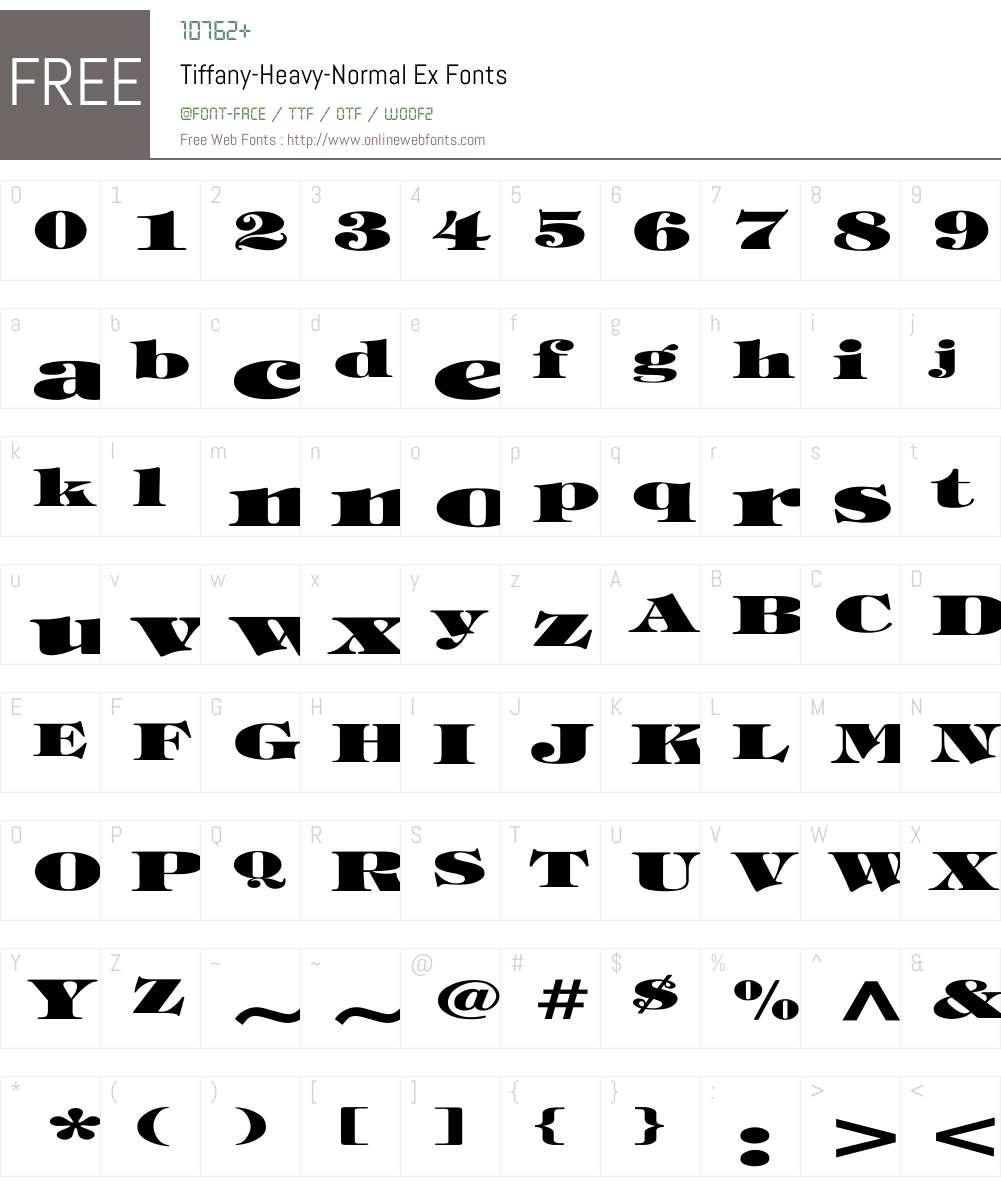 Tiffany-Heavy-Normal Ex Font Screenshots