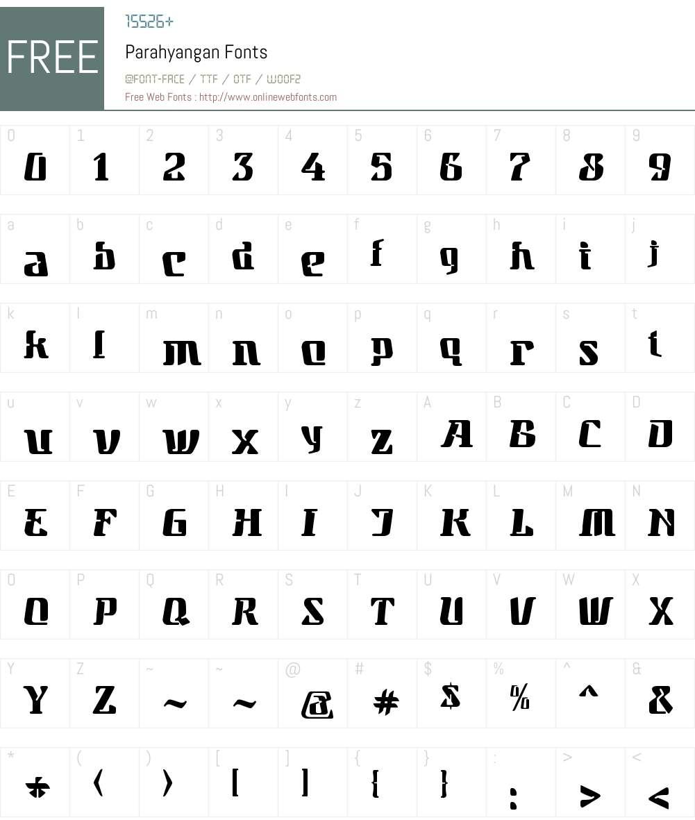 Parahyangan Font Screenshots