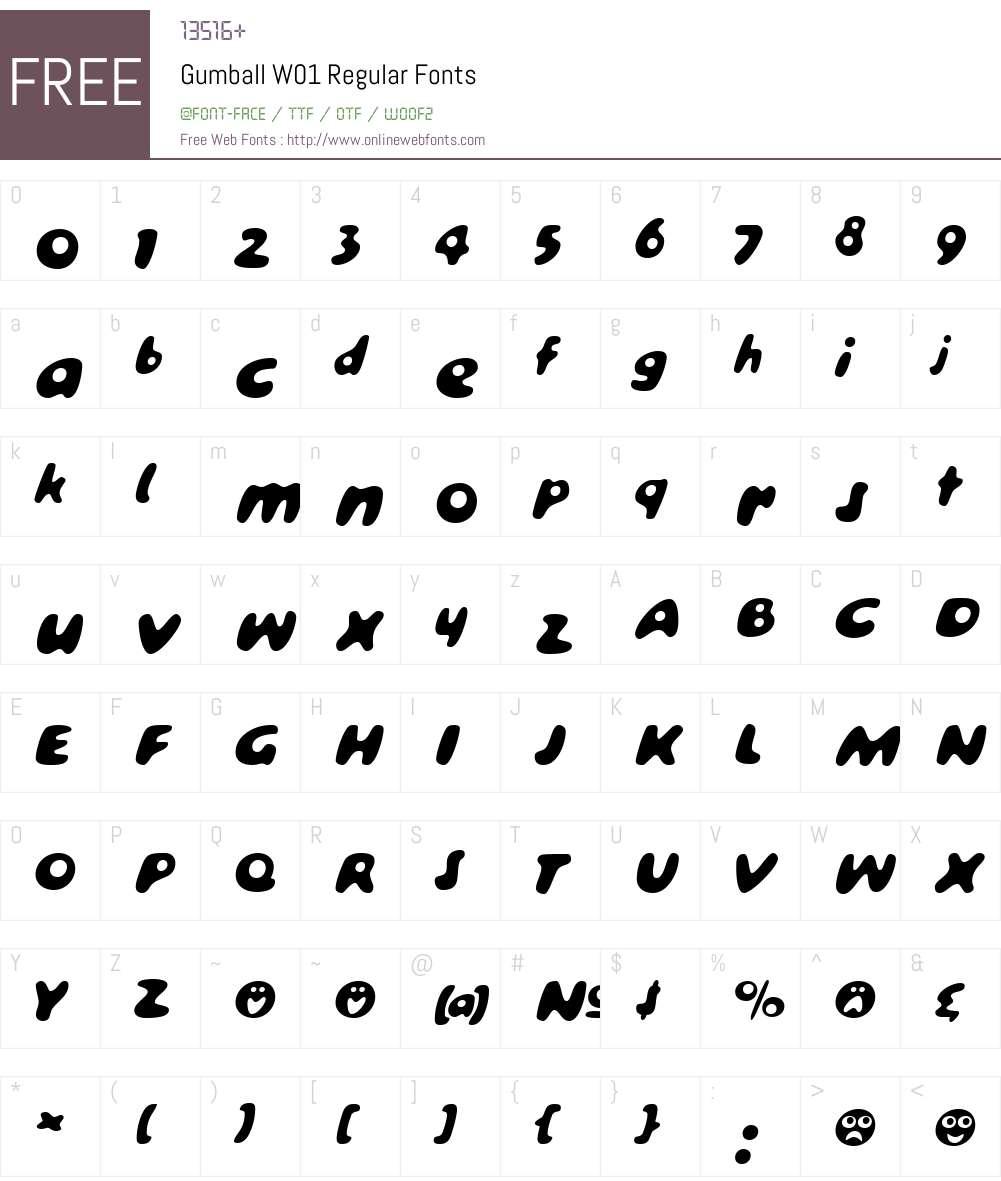 GumballW01-Regular Font Screenshots