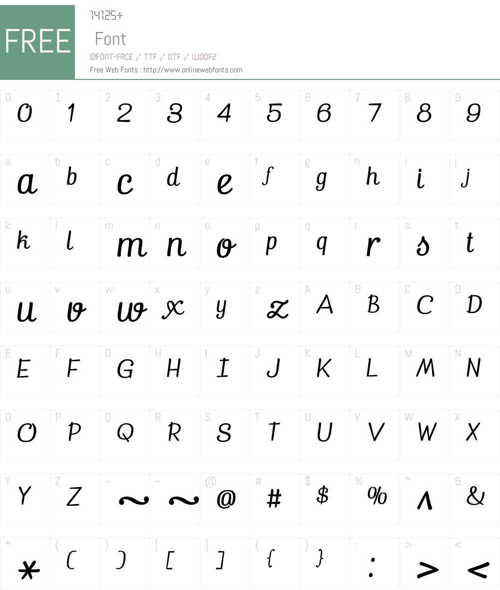 Pepita Script Font Screenshots