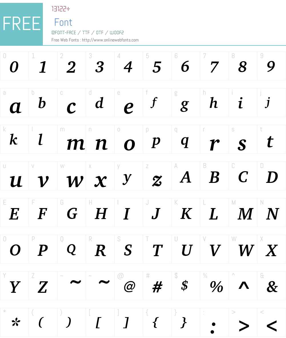 CharterEF Font Screenshots