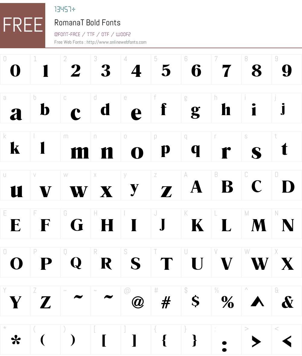 RomanaT Font Screenshots