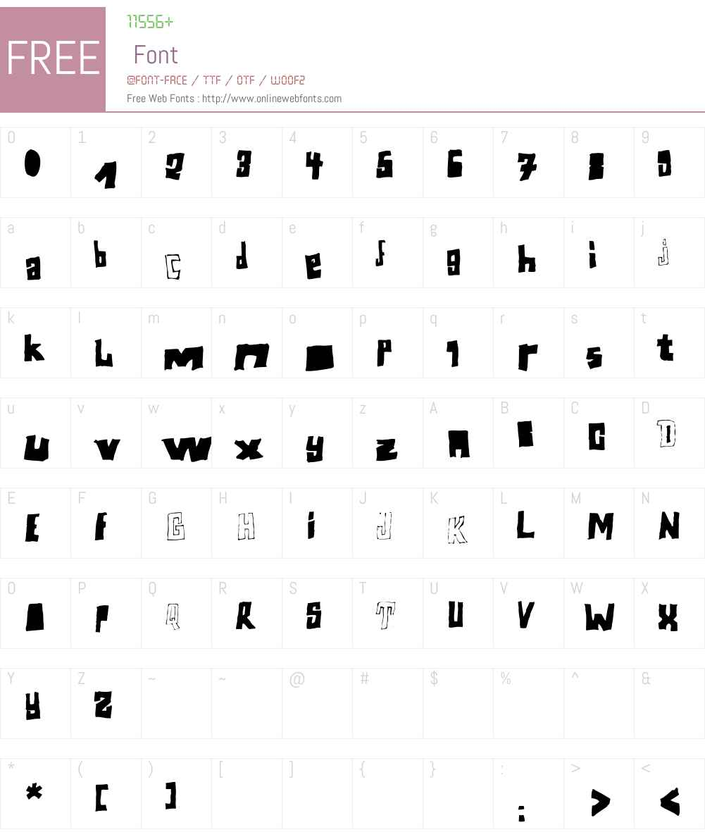 Perlon Font Screenshots