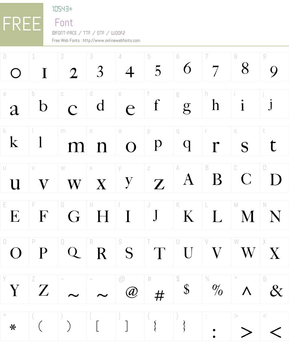 FCaslon Fortytwo ITC Std Font Screenshots