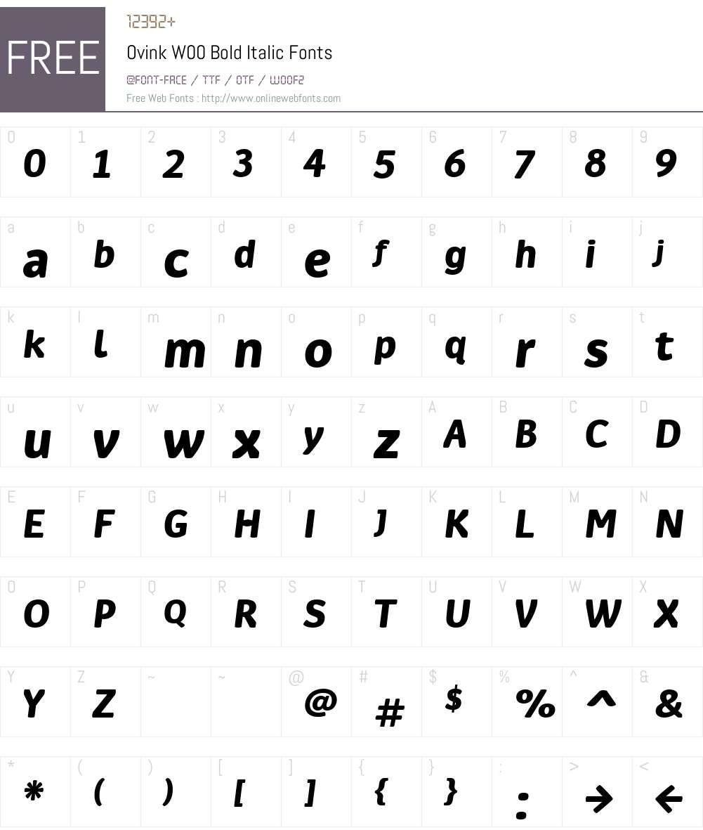 Ovink Font Screenshots