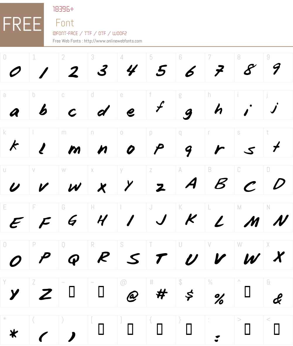 Blunter Font Screenshots