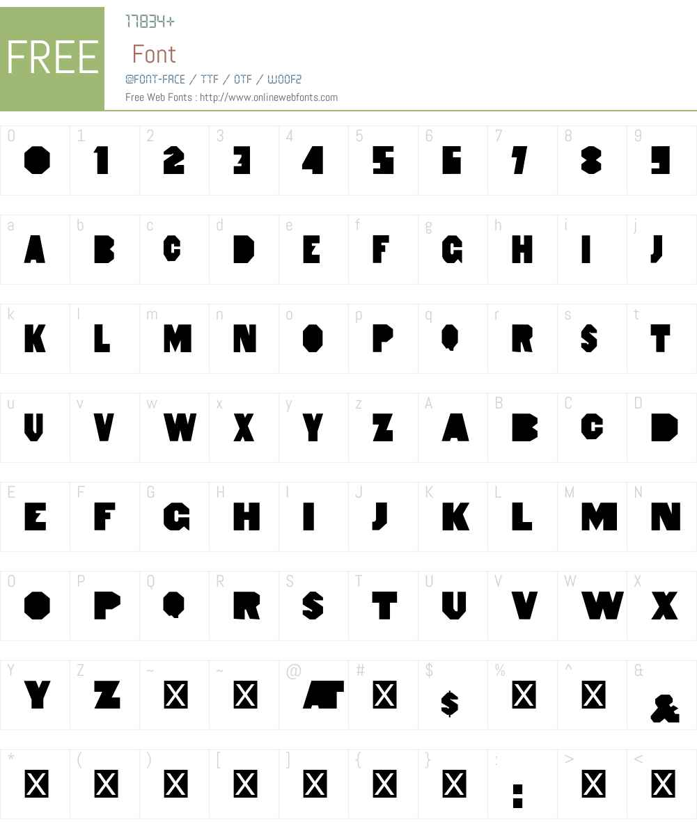 HeptagonFrench Limited Free Edition Font Screenshots