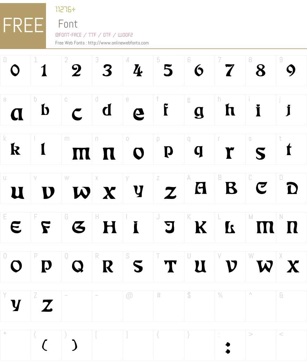 Eckmann Wd Font Screenshots