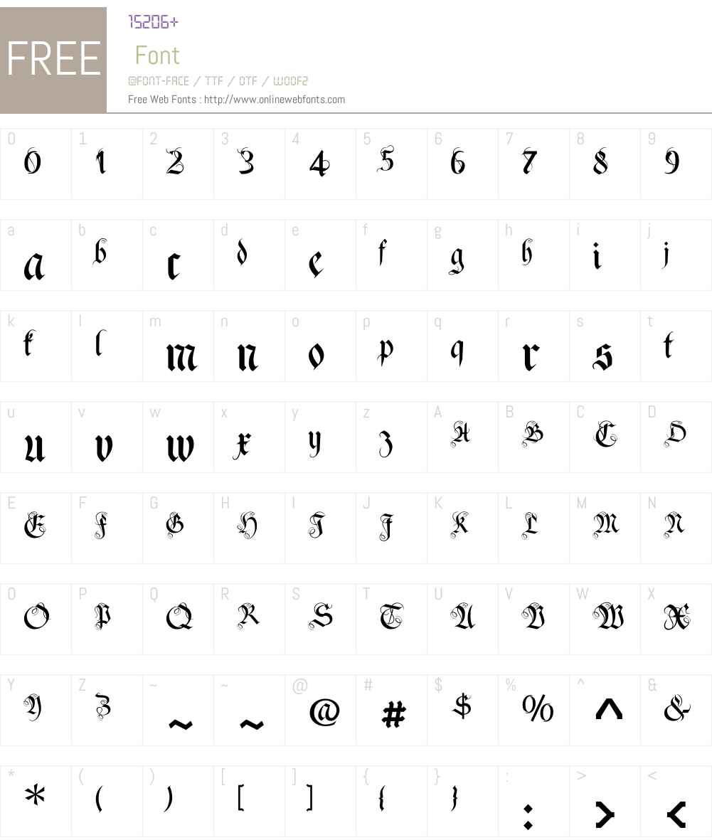 FrakturaW01-Plus Font Screenshots