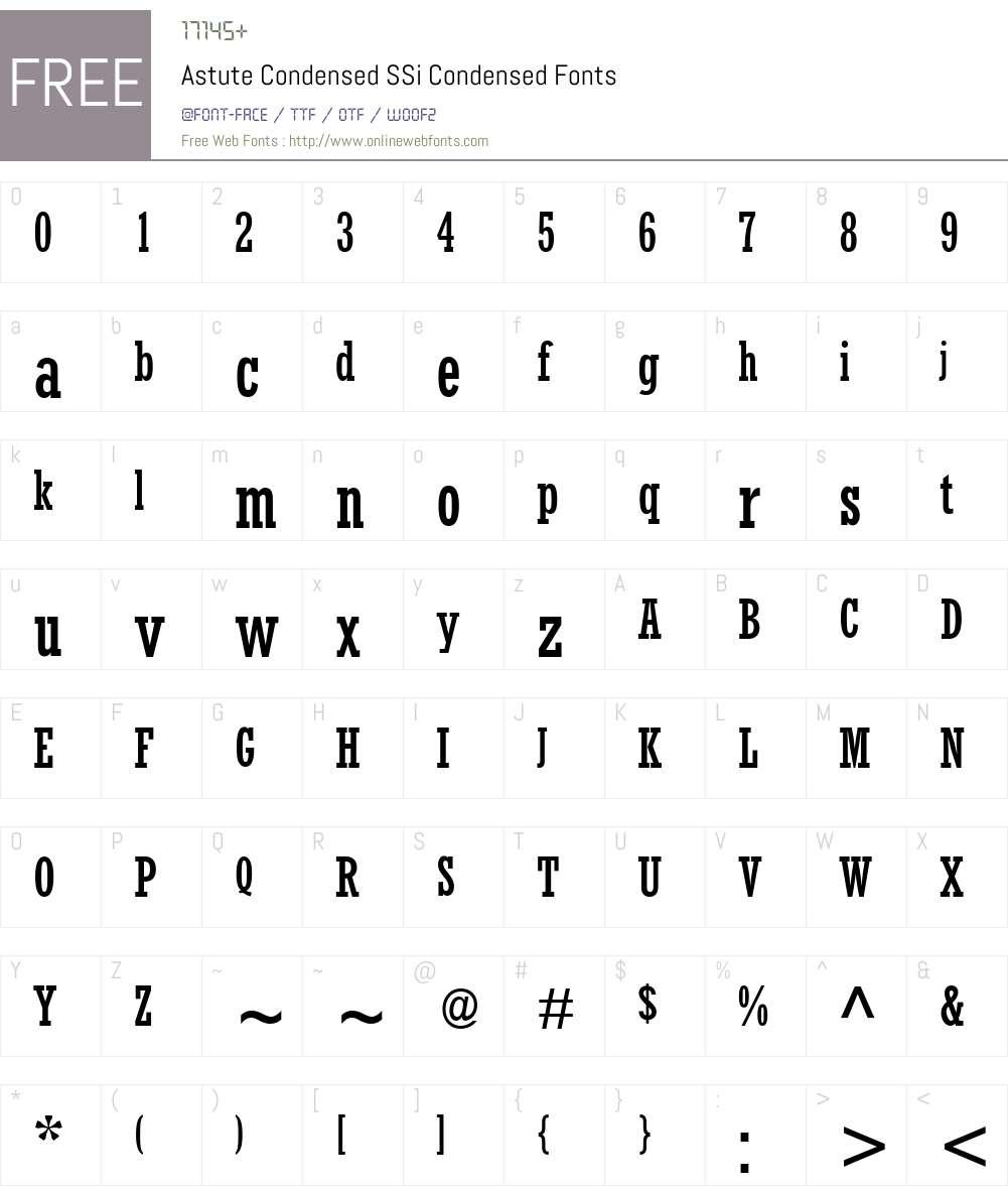 Astute Condensed SSi Font Screenshots