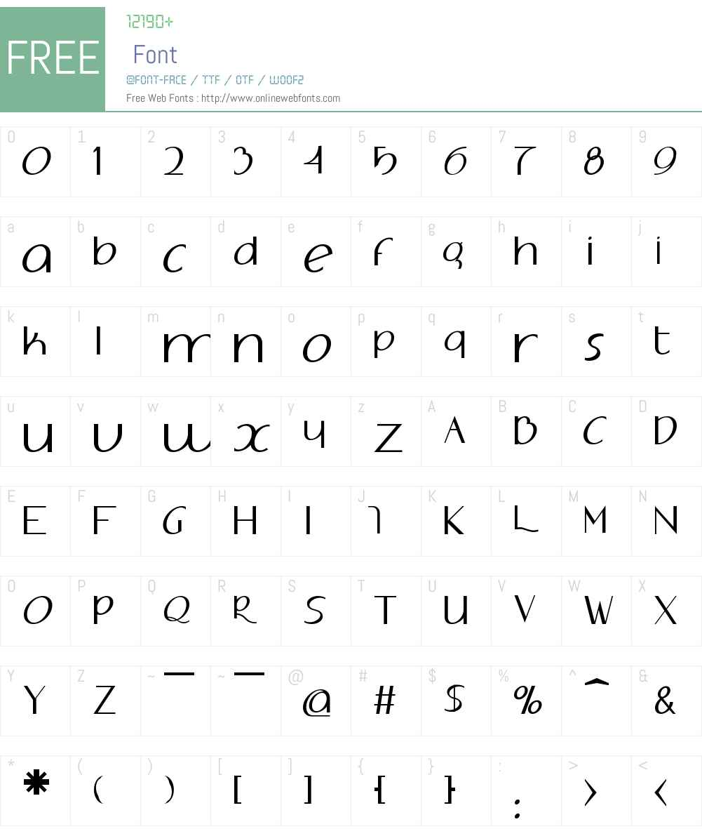 Adolphus Font Screenshots