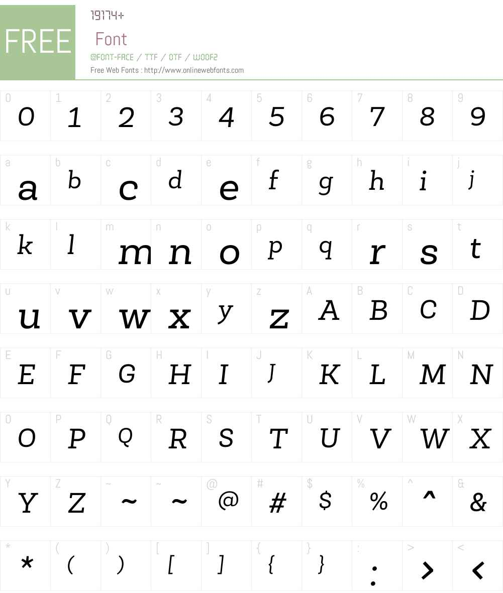 RobleW01-Italic Font Screenshots
