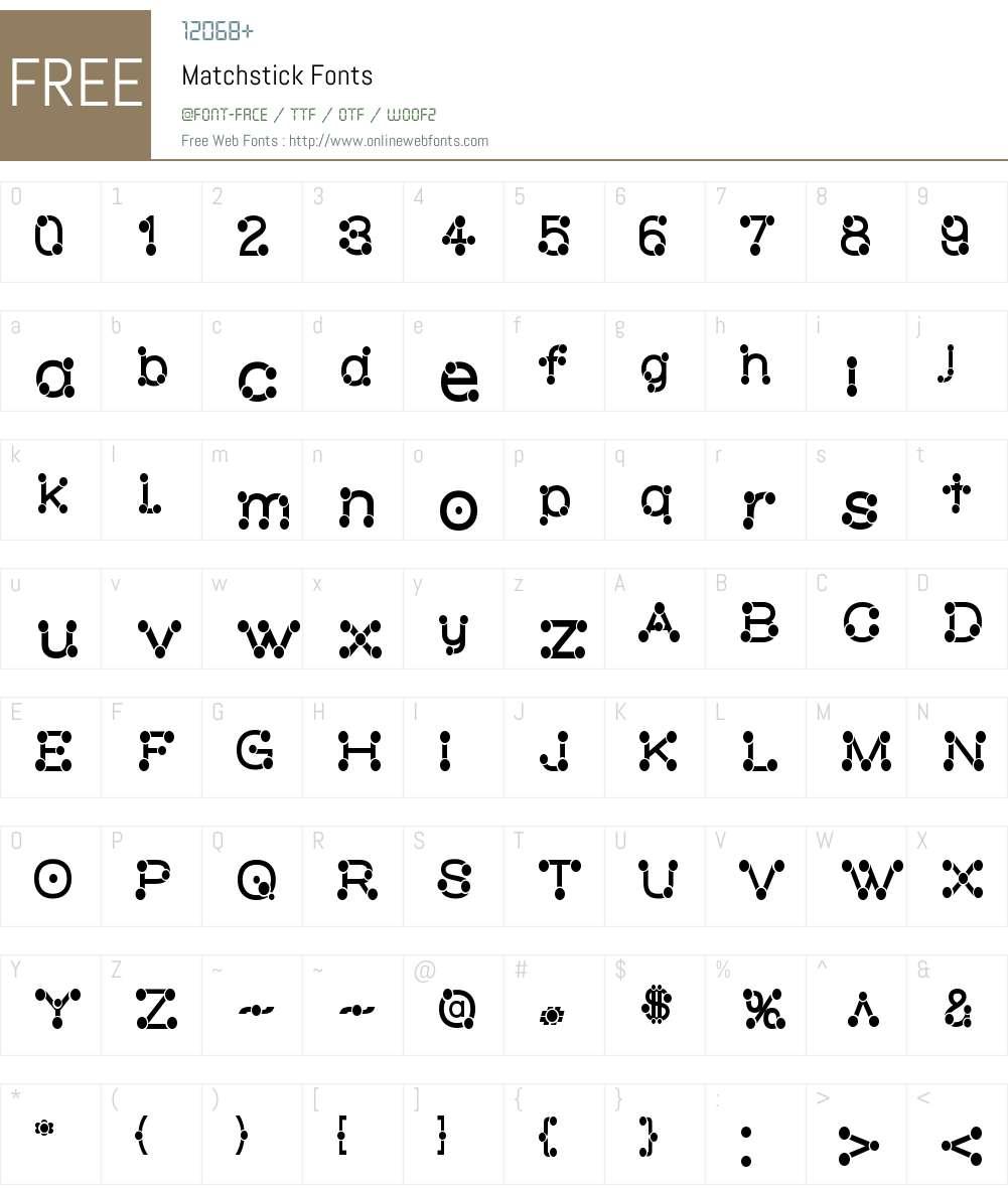 Matchstick Font Screenshots