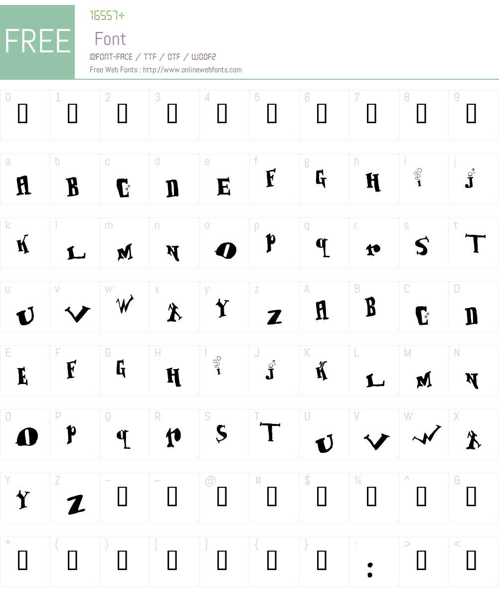 BabOonjaZzbaSsoOn Font Screenshots