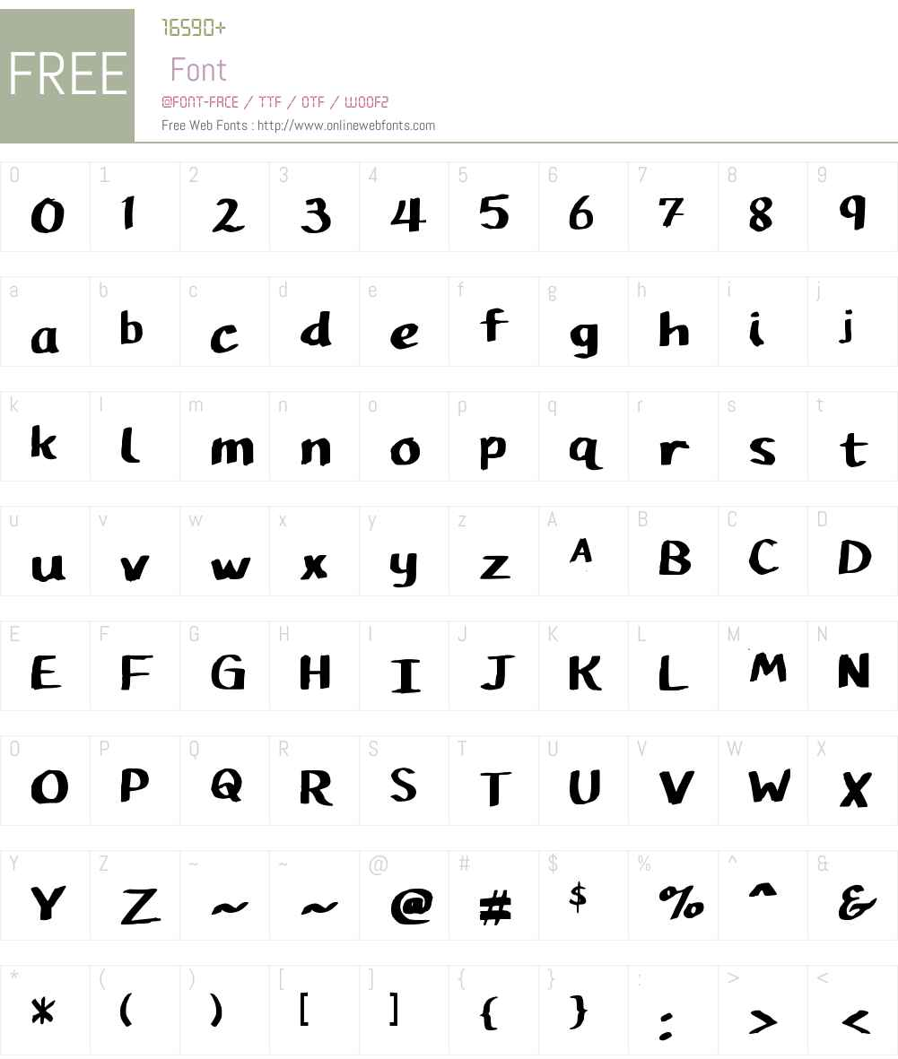 Pupil Caligraphic Font Screenshots