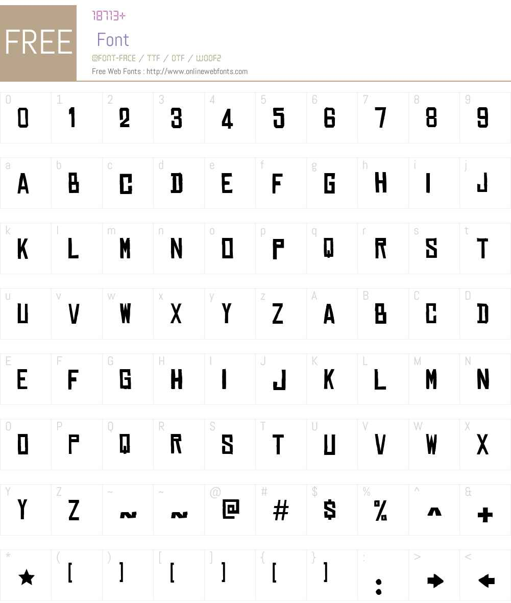 Chinese Rocks Free Font Screenshots