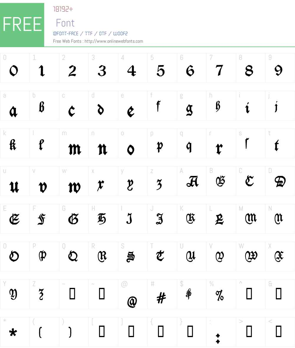 Deutschische Font Screenshots