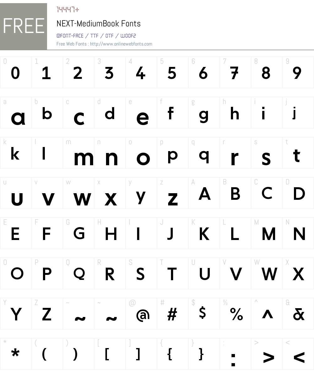 NEXT-Medium Book Font Screenshots