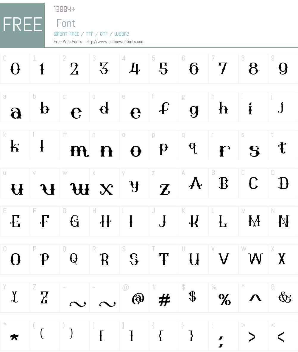GiacintaW00-Ornate Font Screenshots