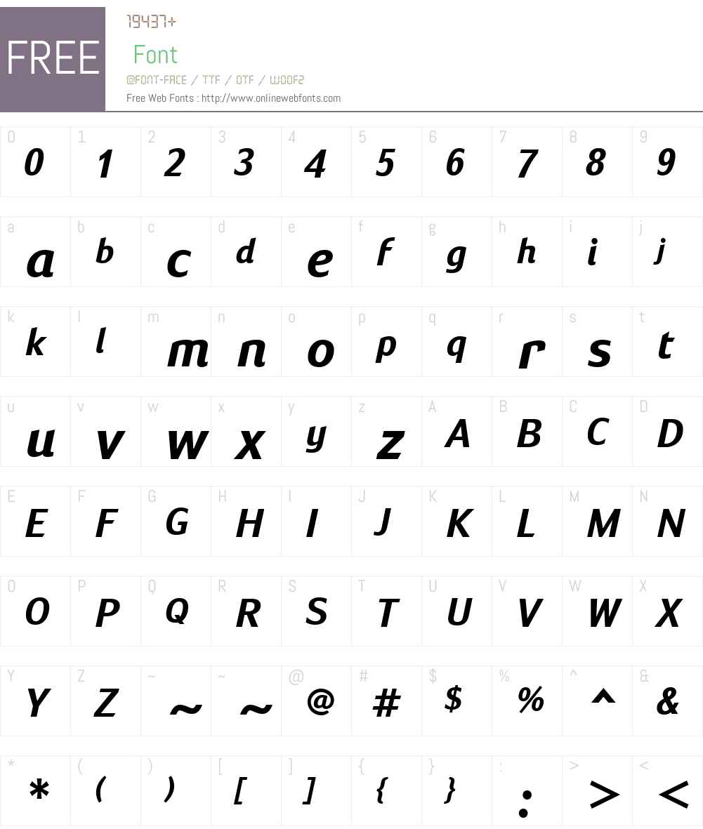 SusanSansW01-BoldItalic Font Screenshots