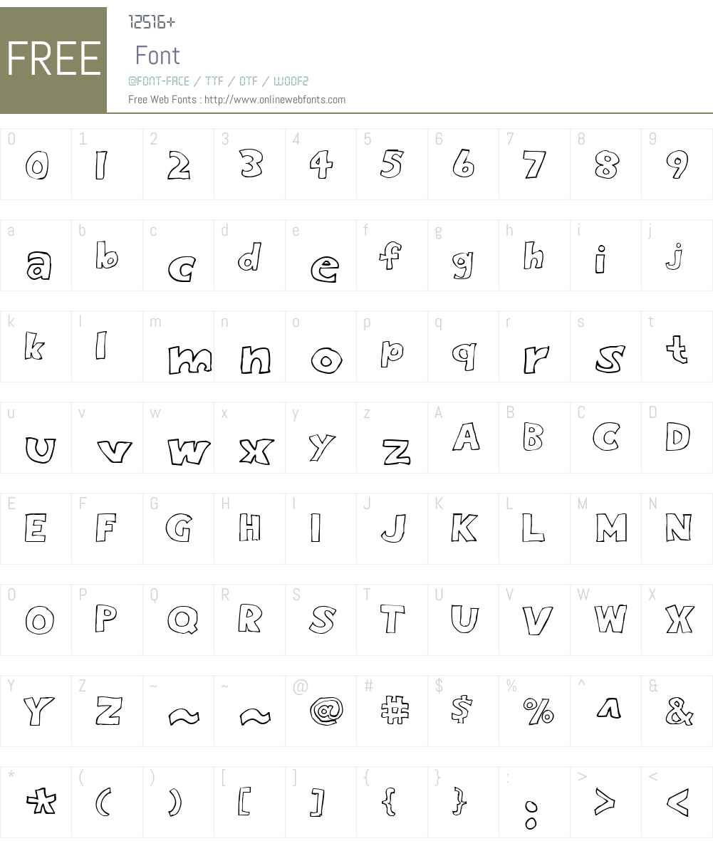 Eighty Percent Outline Font Screenshots