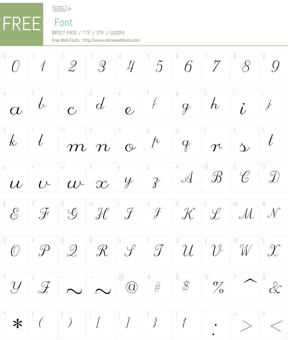 ScriptC Font Screenshots