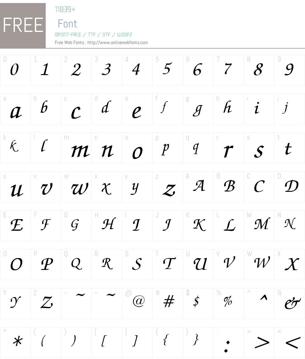 Zapf Russ Font Screenshots