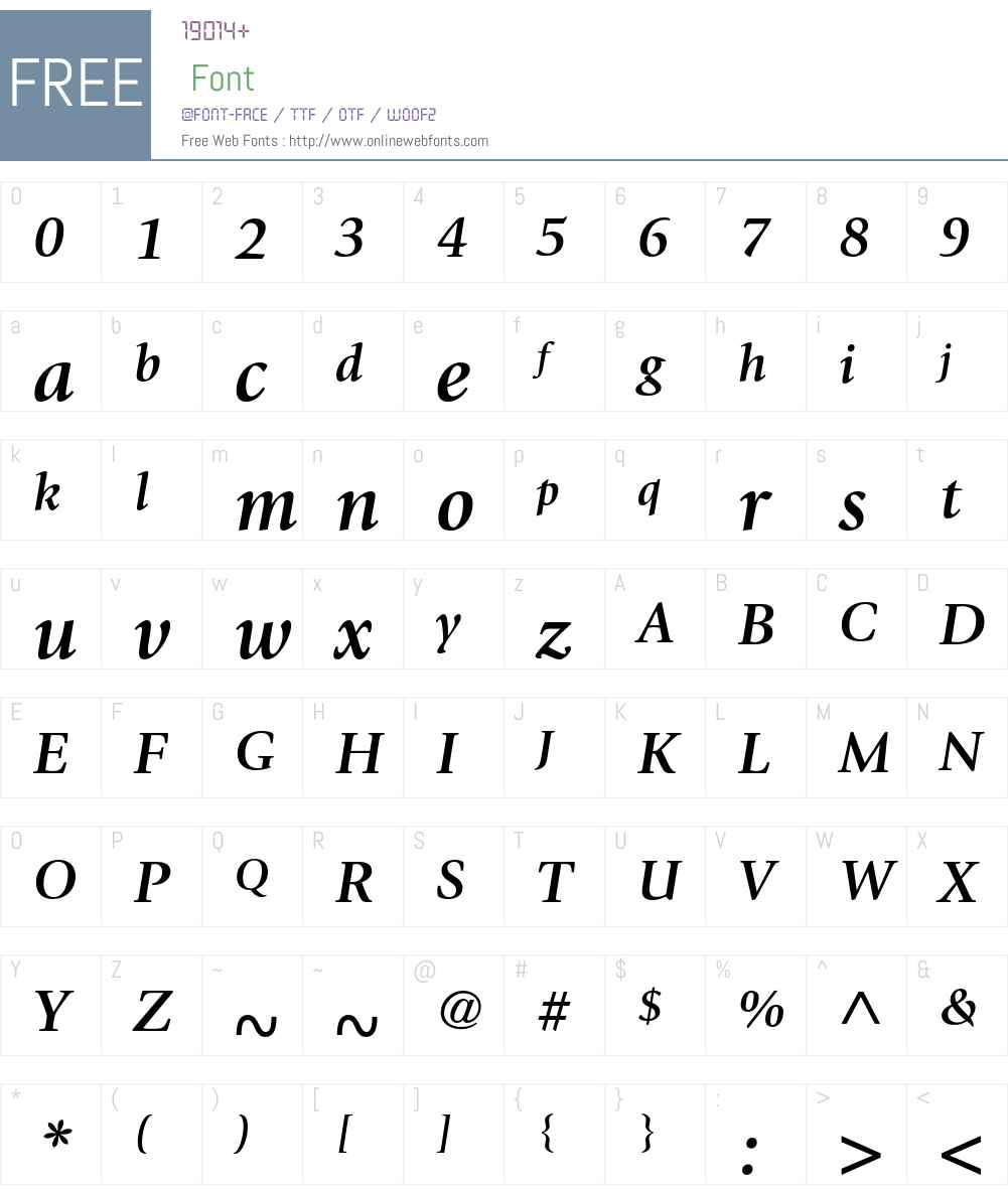 ITC Giovanni Font Screenshots