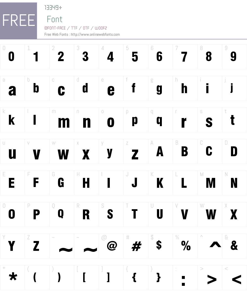 Swiss 721 Black Condensed Font Screenshots