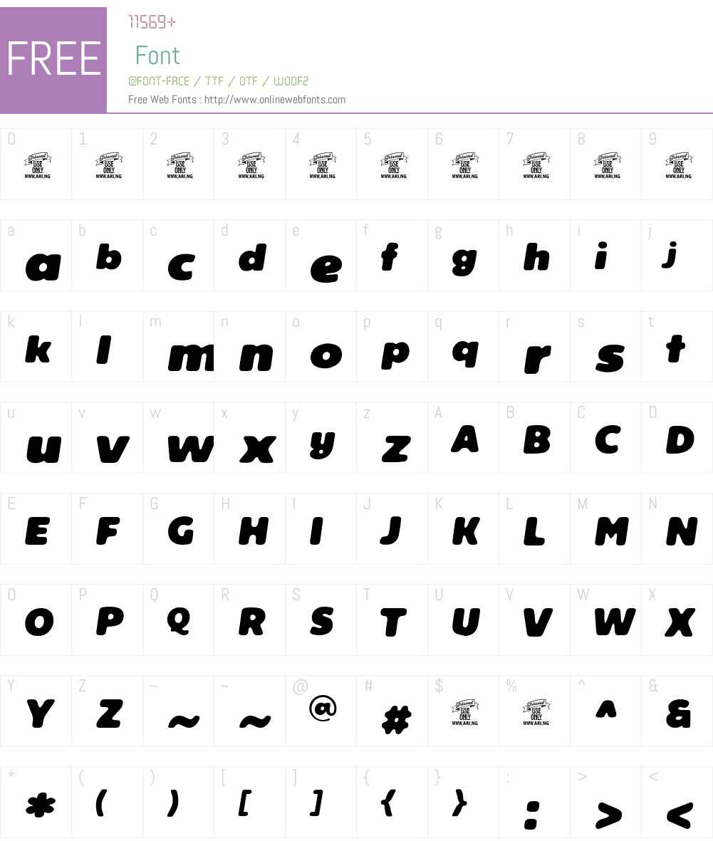 Reeler Personal Use Only Font Screenshots