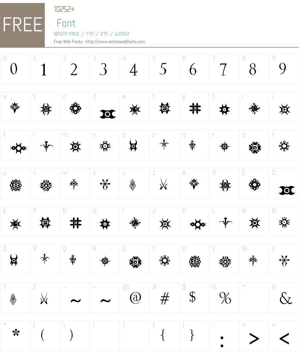 Jewelry Design Shapes Font Screenshots