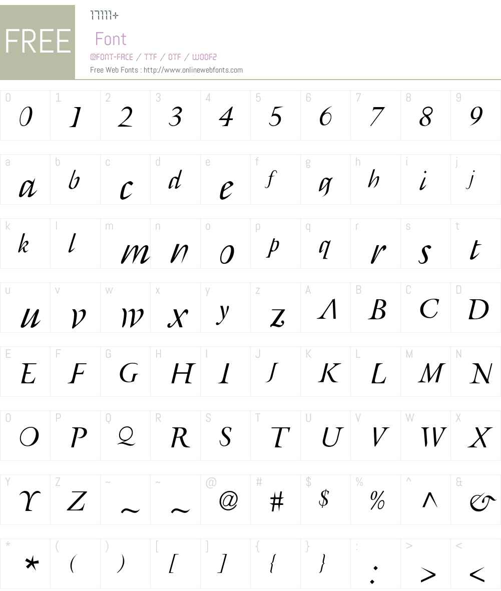 AFRetrospecta Font Screenshots