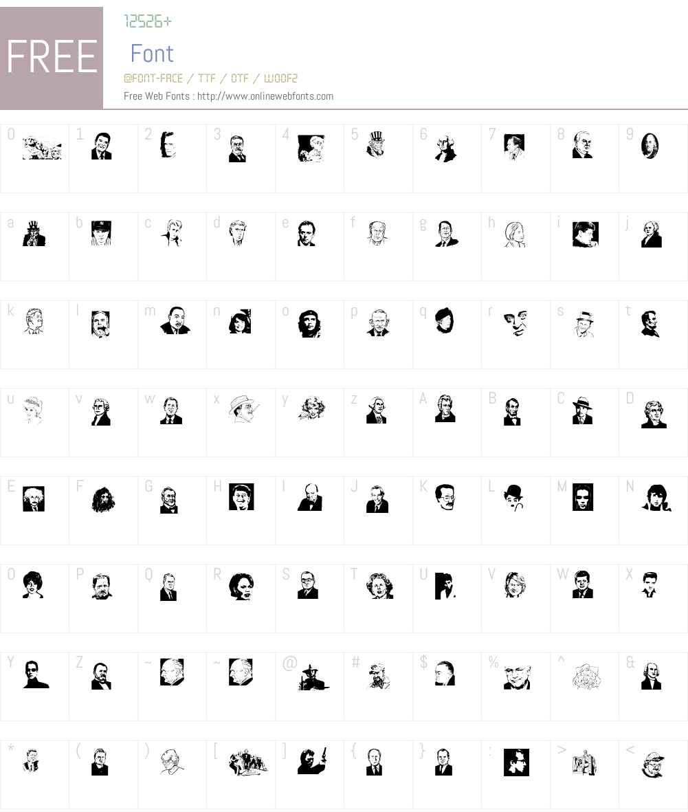 Famous Faces Font Screenshots