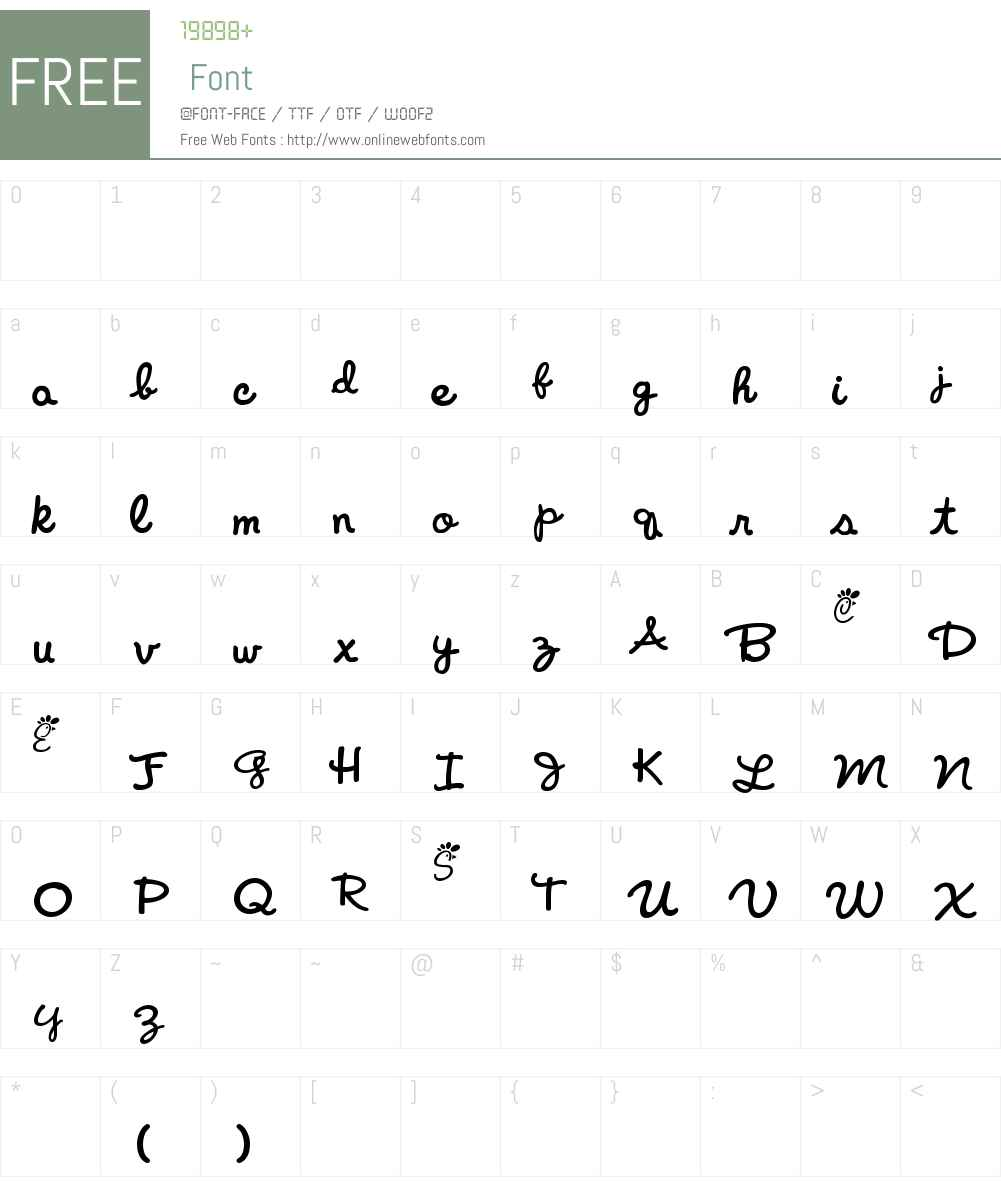 Chicken-fil-A Font Screenshots