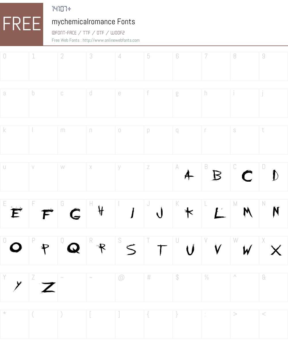 mychemicalromance Font Screenshots