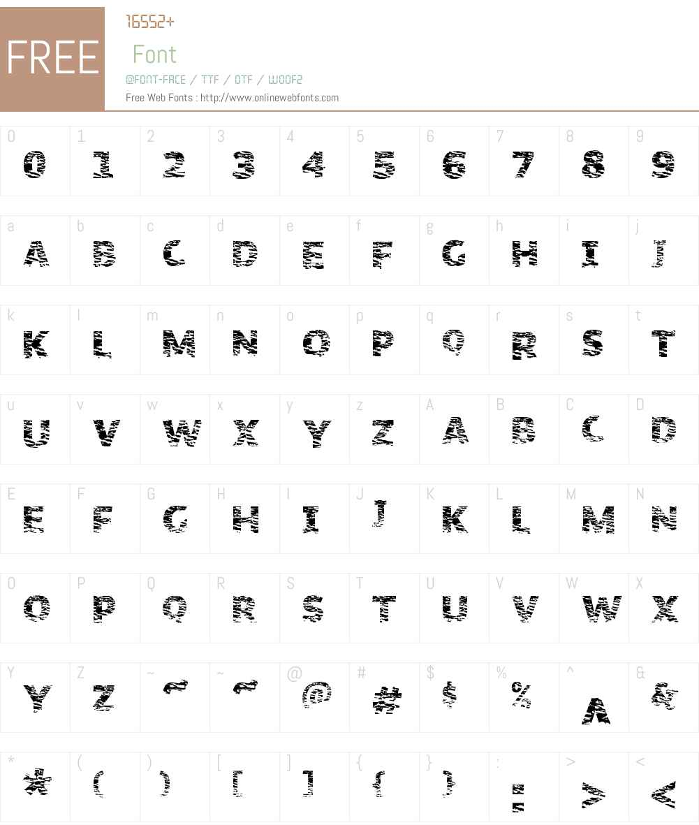 OrganicNature Font Screenshots