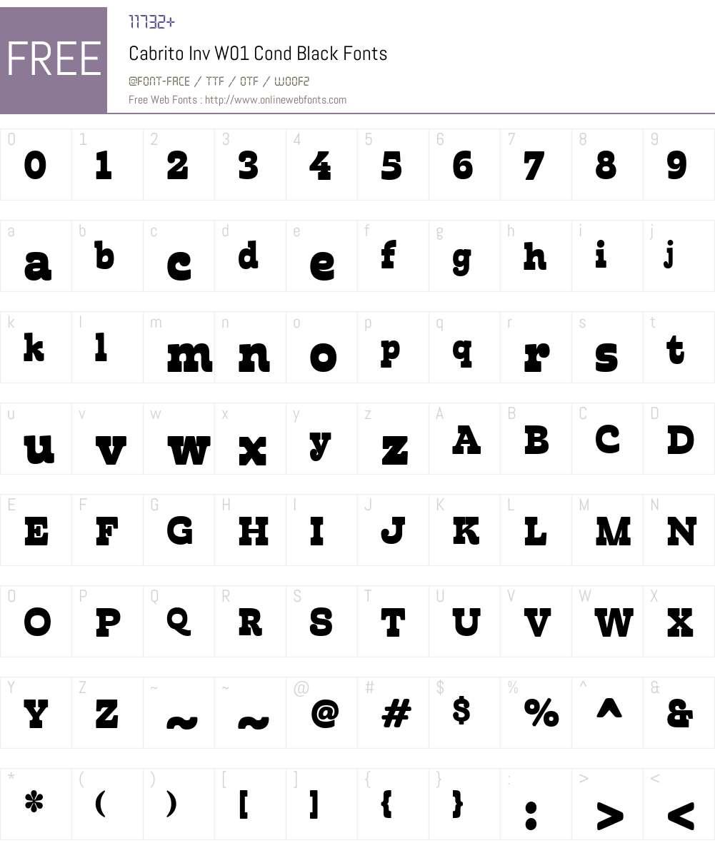 CabritoInvW01-CondBlack Font Screenshots