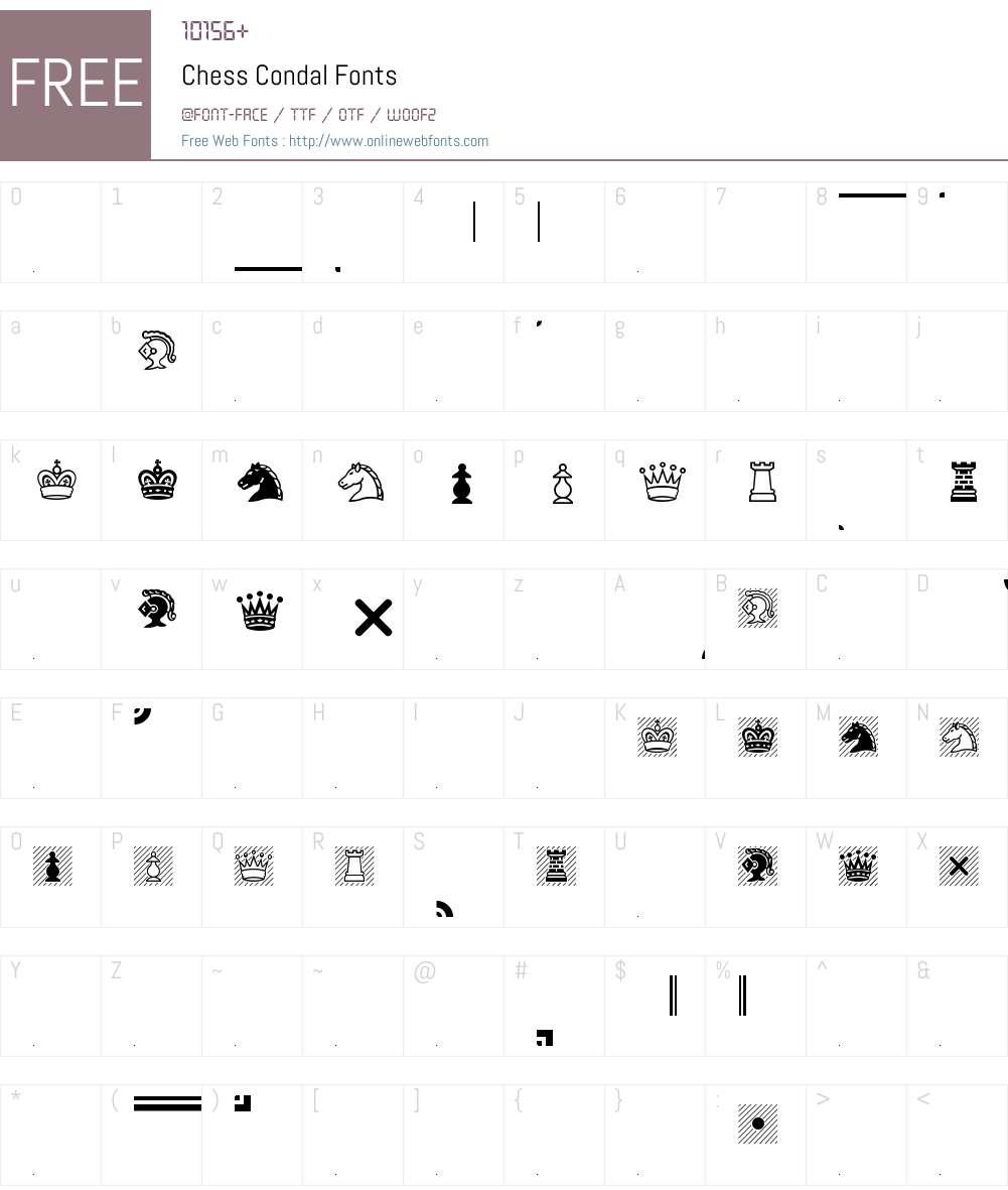Chess Condal Font Screenshots
