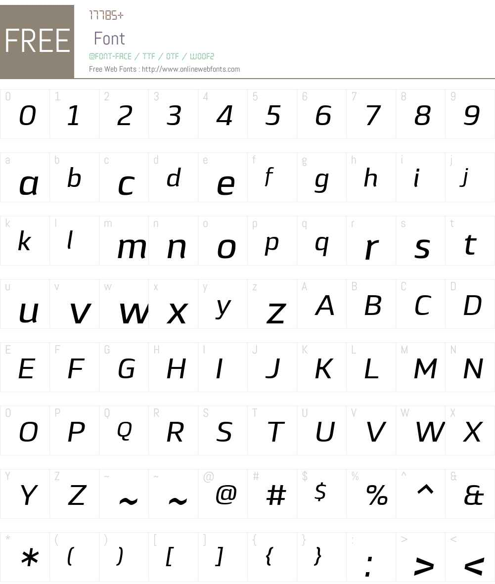 LytigaW01-MediumItalic Font Screenshots